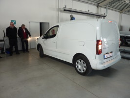 Electric Peugeot Partner was performed in Čestlice