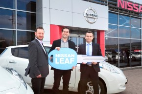 Nissan sold a fleet of 19 Leafs