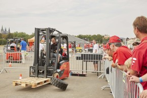 Linde MH organized forklift contest in Prague