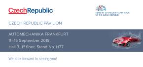 Automechanika Frankfurt: Češi s podporou MPO