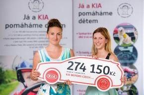 Kia získala pro děti 274 150 korun