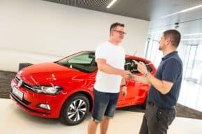 VW: Štoček dal klíč výherci soutěže Evropy 2