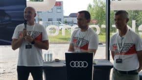 Audi ukázalo novinářům rozkuchaný e-tron