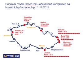 CzechToll varuje před frontami na hranicích