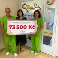 ESSOX předal šek na 73 500 Kč spolku HAIMA