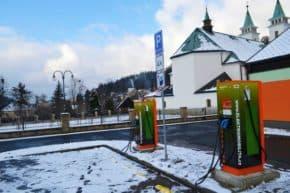 Nové rychlodobíjecí stanice v Horní Bečvě